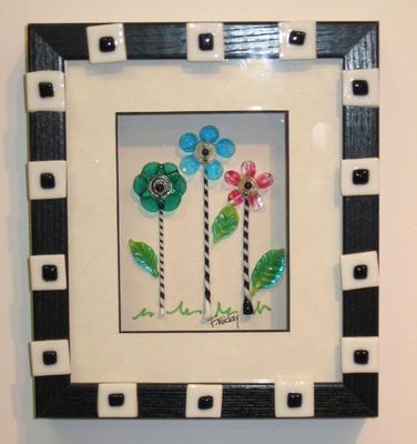 Art Faith Wickey Framed Glass Flowers pink green blue.jpg -